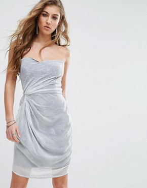 photo Strapless Dress by Religion, color White/Grey - Image 1