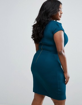 photo Pencil Dress by Closet London Plus, color Teal - Image 2