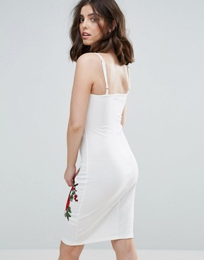 photo Cami Dress with Rose Embroidery by Parisian Petite, color White - Image 2