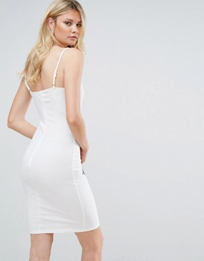 photo Cami Dress with Rose Embroidery by Parisian Tall, color White - Image 2