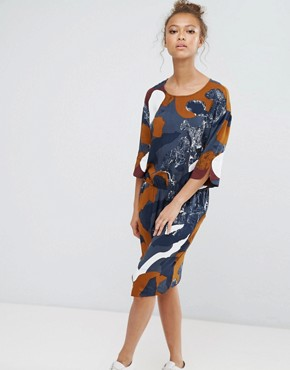 photo Printed Dress by b.Young, color Multi - Image 1