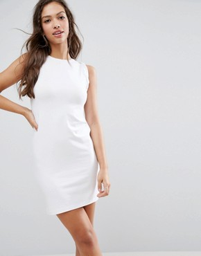 photo Sleeveless Mini Vest Dress with Twist Arm Detail by ASOS, color White - Image 1