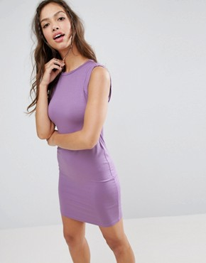 photo Sleeveless Mini Vest Dress with Twist Arm Detail by ASOS, color Lilac - Image 1
