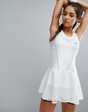 photo Barricade Tennis Dress by Adidas by Stella McCartney, color White - Image 1