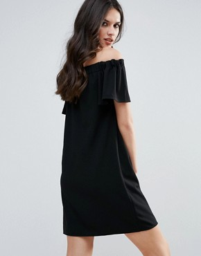 photo Bandeau Frill Detail Shift Dress by AX Paris, color Black - Image 2