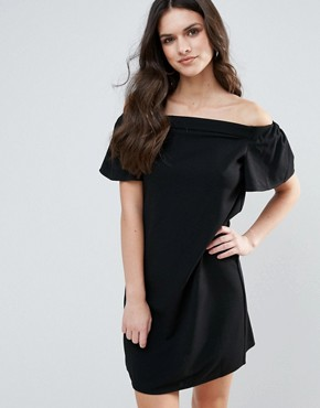 photo Bandeau Frill Detail Shift Dress by AX Paris, color Black - Image 1