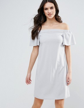 photo Bandeau Frill Detail Shift Dress by AX Paris, color Grey - Image 1