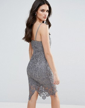photo Lace Pencil Dress by AX Paris, color Grey - Image 2