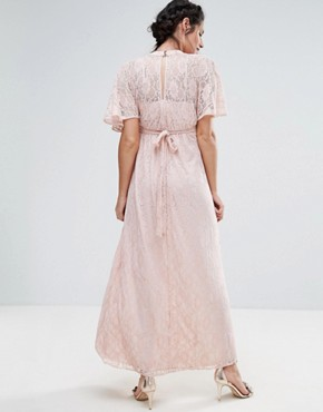 photo Lace Maxi Dress by Queen Bee, color Pink - Image 2