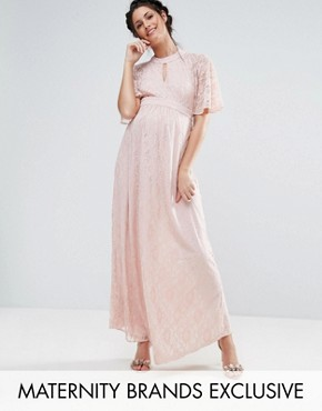 photo Lace Maxi Dress by Queen Bee, color Pink - Image 1