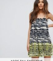 photo Beach Broidery Tie Dye Swing Dress by ASOS TALL, color Mono - Image 1