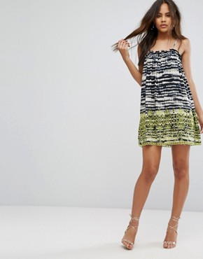 photo Beach Broidery Tie Dye Swing Dress by ASOS TALL, color Mono - Image 4