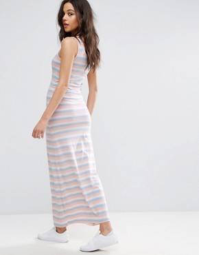 photo Abbie Striped Maxi Dress by Only, color Peach Melba - Image 2