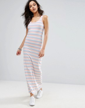 photo Abbie Striped Maxi Dress by Only, color Peach Melba - Image 1