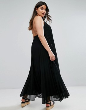 photo Pleated Maxi Dress by Missguided Plus, color Black - Image 2