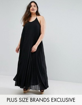 photo Pleated Maxi Dress by Missguided Plus, color Black - Image 1