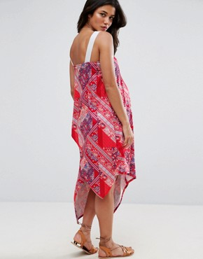 photo Bandana Print Dress by ASOS Maternity, color Red - Image 2
