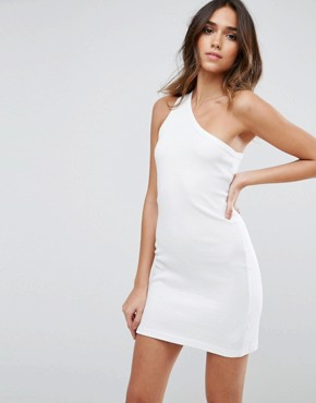 photo One Shoulder Mini Dress by ASOS, color White - Image 1
