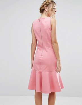 photo Midi Dress with Pephem by Closet London, color Pink - Image 2