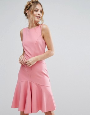 photo Midi Dress with Pephem by Closet London, color Pink - Image 1