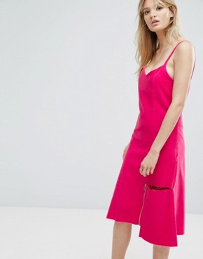 photo Midi Cami Dress by Outstanding Ordinary, color Pink - Image 1