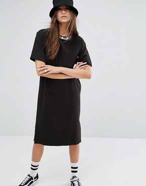 photo T-Shirt Dress by Stussy, color Black - Image 1