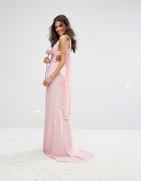 photo Multiway Maxi Dress by TFNC WEDDING, color Ballet Pink - Image 2