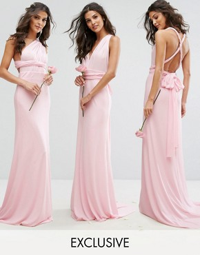 photo Multiway Maxi Dress by TFNC WEDDING, color Ballet Pink - Image 1