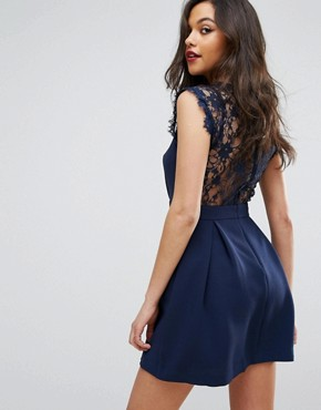 photo Lace Detail Dress by BCBGeneration, color Dark Navy - Image 2
