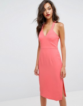photo Bodycon Coral Dress by BCBGeneration, color Coral - Image 1