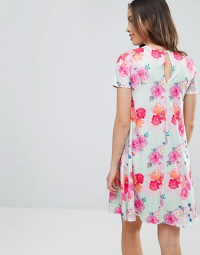 photo Photographic Floral Swing Dress by ASOS Maternity PETITE, color Mint - Image 2