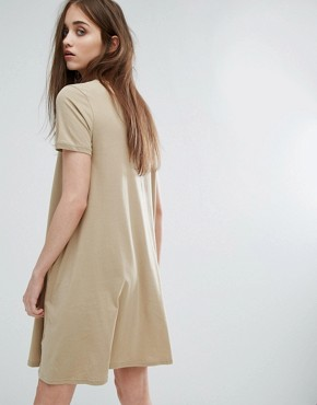 photo High Neck Swing Dress by Cheap Monday, color Beige - Image 2