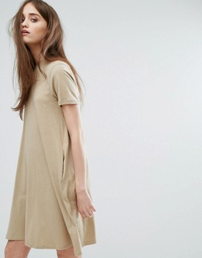 photo High Neck Swing Dress by Cheap Monday, color Beige - Image 1