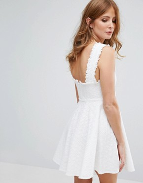 photo White Broderie Anglasie Dress by Millie Mackintosh, color White - Image 2