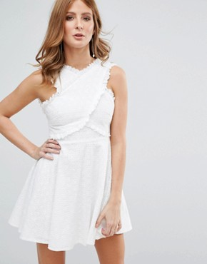 photo White Broderie Anglasie Dress by Millie Mackintosh, color White - Image 1