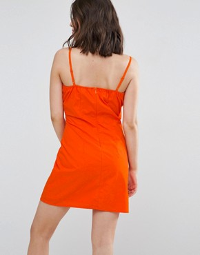 photo Bow Front Dress by New Look Petite, color Orange - Image 2
