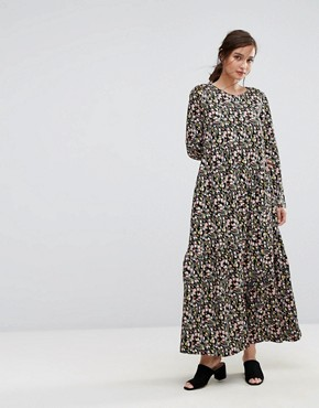 photo Maxi Dress in Tulip Foral by People Tree x V&A, color Multi - Image 1