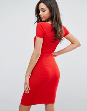 photo Dasai Bodycon Dress by Supertrash, color Obsession Red - Image 2