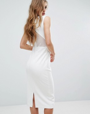 photo Dython Bodycon Dress by Supertrash, color Off White - Image 2
