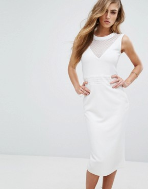 photo Dython Bodycon Dress by Supertrash, color Off White - Image 1