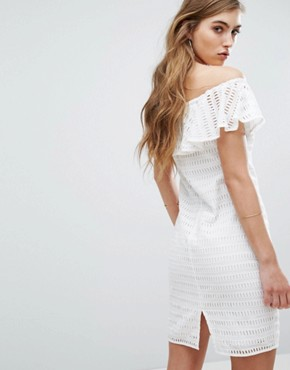 photo Damira Off Shoulder Dress by Supertrash, color Off White - Image 2