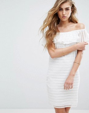 photo Damira Off Shoulder Dress by Supertrash, color Off White - Image 1