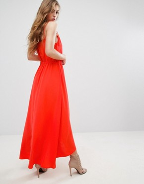 photo Dangari Maxi Dress by Supertrash, color Coral - Image 2