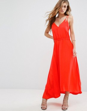 photo Dangari Maxi Dress by Supertrash, color Coral - Image 1