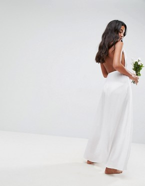 photo Beach Maxi with Applique Detail by ASOS BRIDAL, color White - Image 2