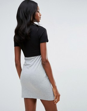 photo Jersey Colour Block Dress by First & I, color Black - Image 2