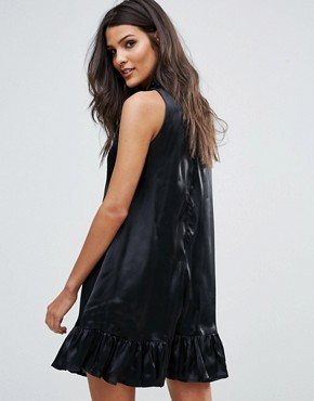 photo Sequin Coller Dress with Peplum Detail by A Star Is Born, color Black - Image 2