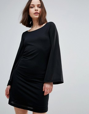 photo Pikaz 70's Flared Dress by Only, color Black - Image 1