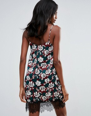 photo Pinted Cami Dress with Lace Hem by First & I, color Multi - Image 2