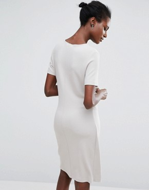 photo Twist Dress by Selected, color Dove - Image 2